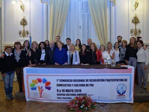 1er CONGRESO REG. DE RESOLUCIÓN .PART.CONFLICTO – Salta  – Mayo 2019